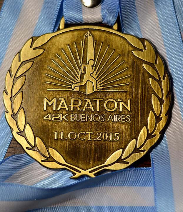 medalla maraton buenos aires