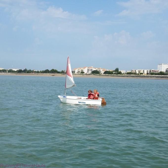 Louloute sur un bateau