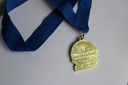 My age-group medal. (Photo by Hannah Knight)