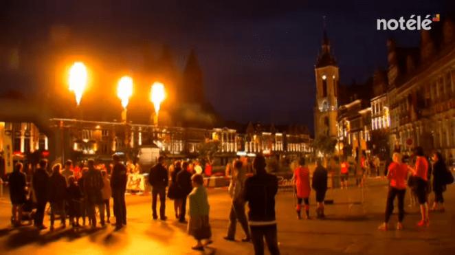 La Grand Place de Tournai s'est embrasée à l'occasion de l'Eurométropole Nocturne - image : No Télé