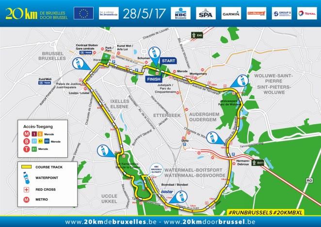 Parcours des 20km de Bruxelles 2017