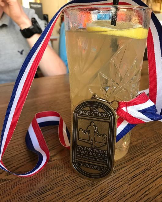 La médaille du Marathon d'Amsterdam 2017