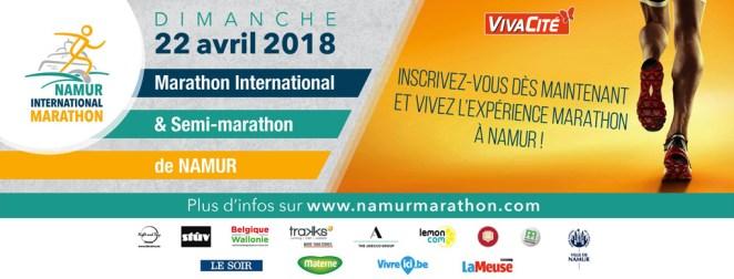 Banner du Marathon et Semi de Namur