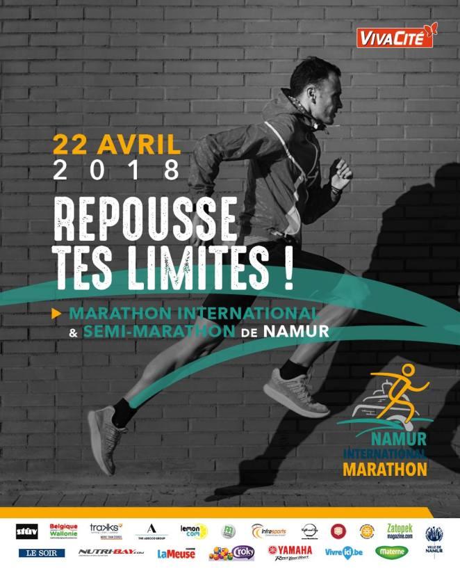 Marathon de Namur 22 avril 2018