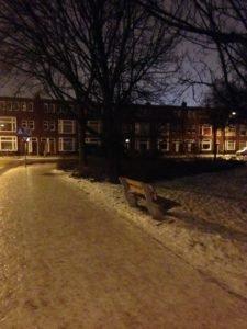Ijzel op de Korreweg in Groningen