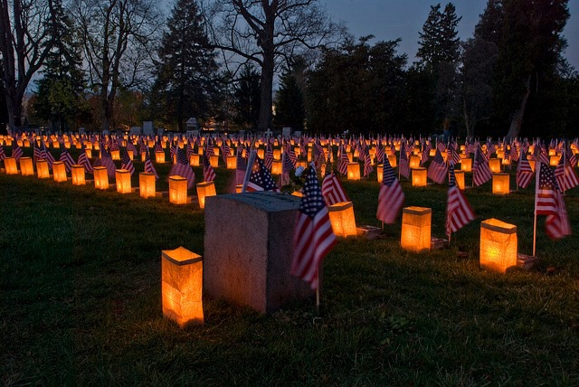 Gettysburg National Cemetery at night, photo credit: Saving Lincoln, Facebook