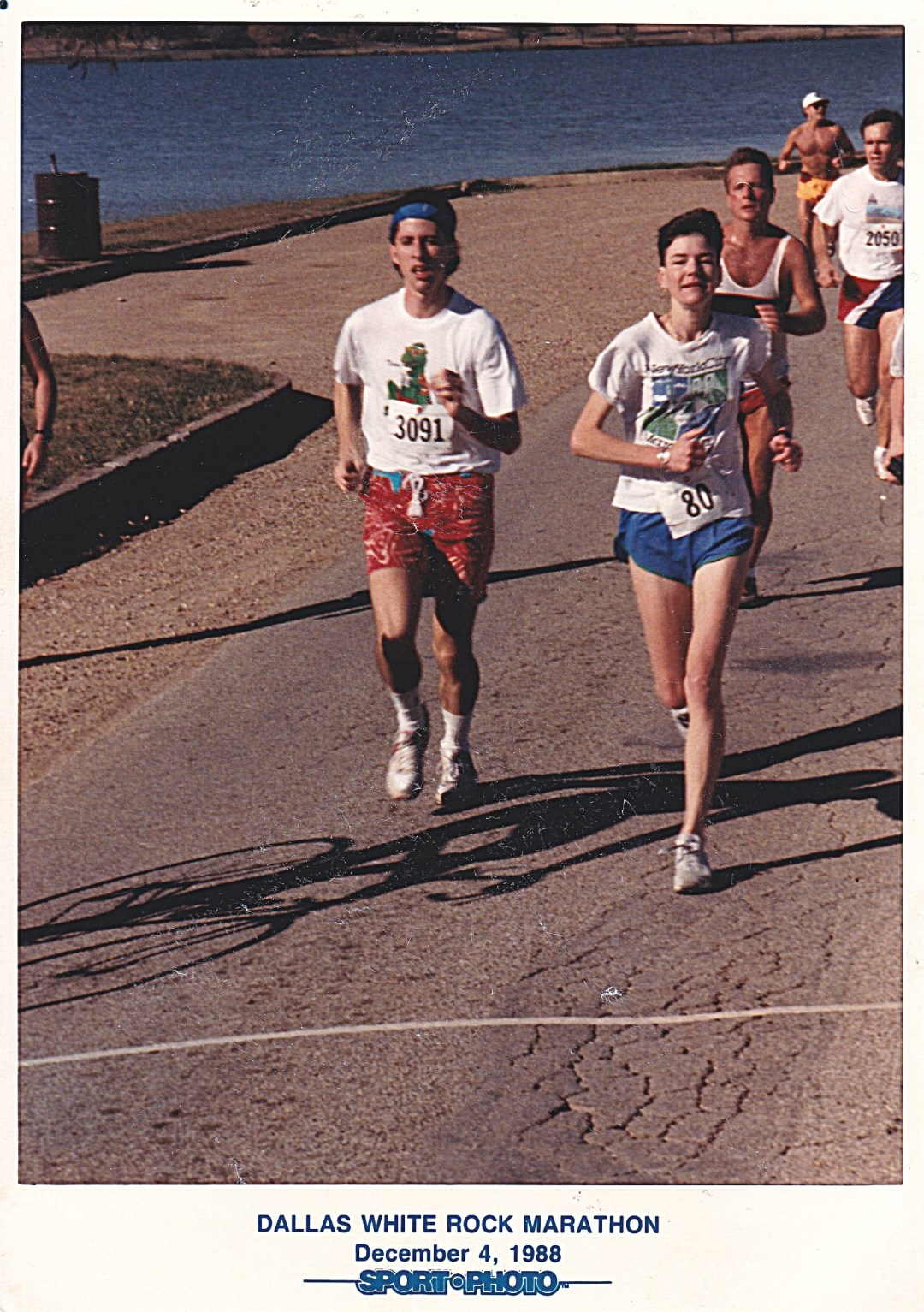 Running around White Rock Lake-Dallas Marathon Dec 4, 1988