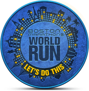 Boston Marathon World Run badge: Let's Do This!