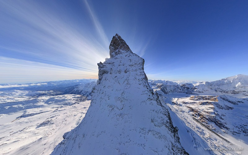 Matterhorn, Switzerland  just adjacent to Italian border (Swiss-Italian Alps)