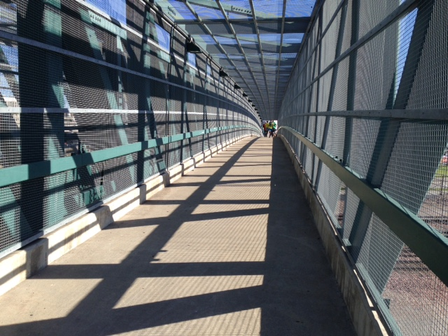 amidst the final Haymarket Bridge