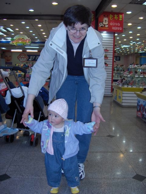Shopwalking with Mom
