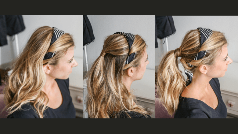How to Wear a Hair Scarf, tips featured by top US beauty blog, Running in Heels: twist on headband