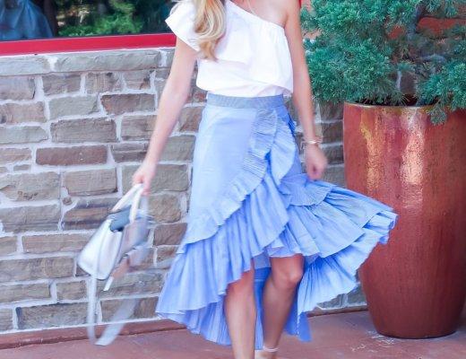Frill Hem Skirt | Running in Heels