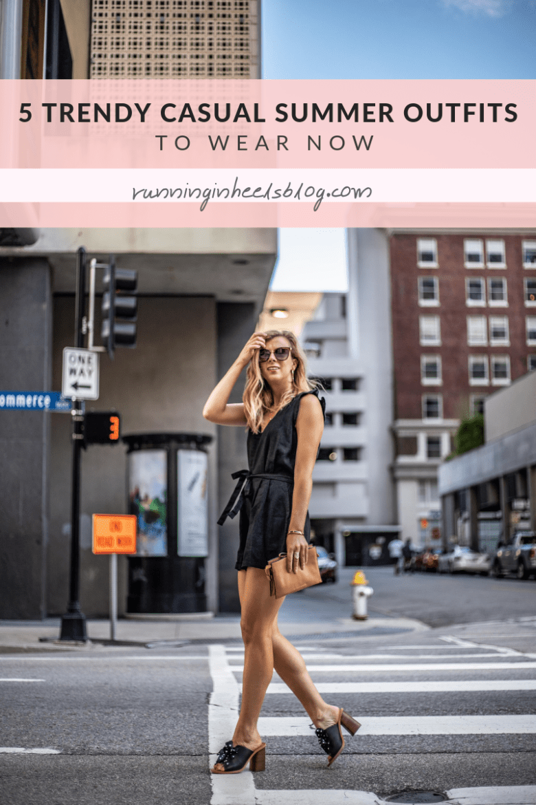 5 Trendy Casual Summer Outfits featured by top US fashion blog, Running in Heels.