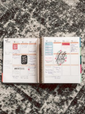 Erin Condren Planner review featured by top US life and style blog, Running in Heels.