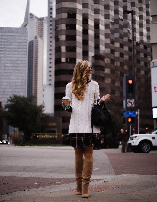 How to wear a shirtdress in the Fall, styling tips featured by top US fashion blog, Running in Heels