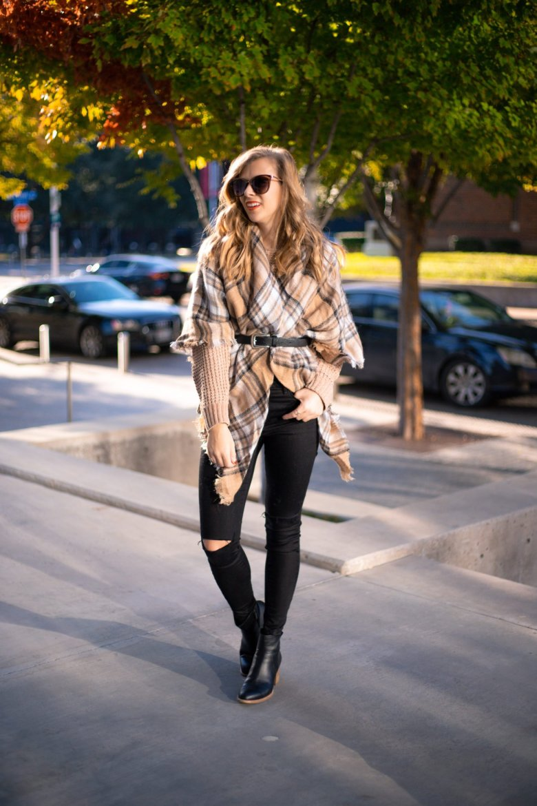 How to Tie a Blanket Scarf, tips featured by top US fashion blog, Running in Heels: