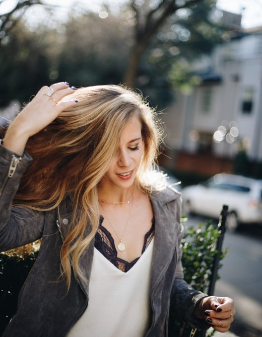 Where to buy dainty gold jewelry, tips featured by top Dallas fashion blogger, Running in Heels.