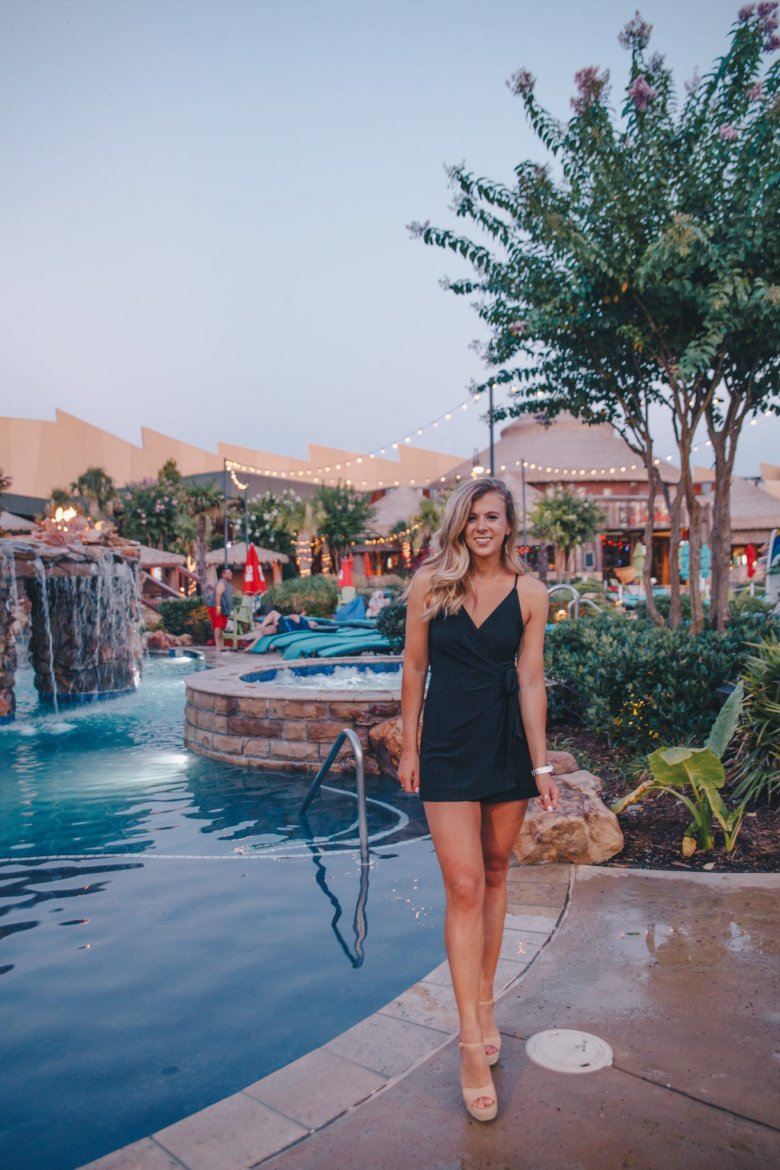The Best Things to Do at Choctaw Casino & Resort featured by top US travel blog, Running in Heels: image of a woman at the pool
