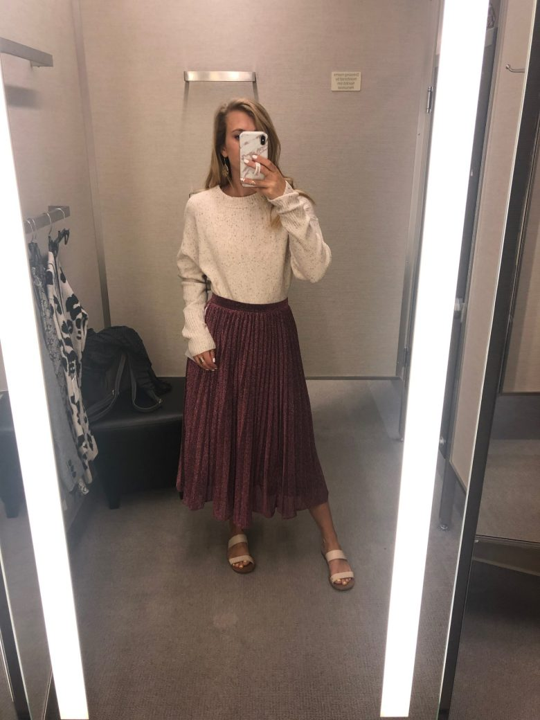 What NOT to Buy from the 2019 Nordstrom Anniversary Sale featured by top US fashion blog, Running in Heels: midi skirt