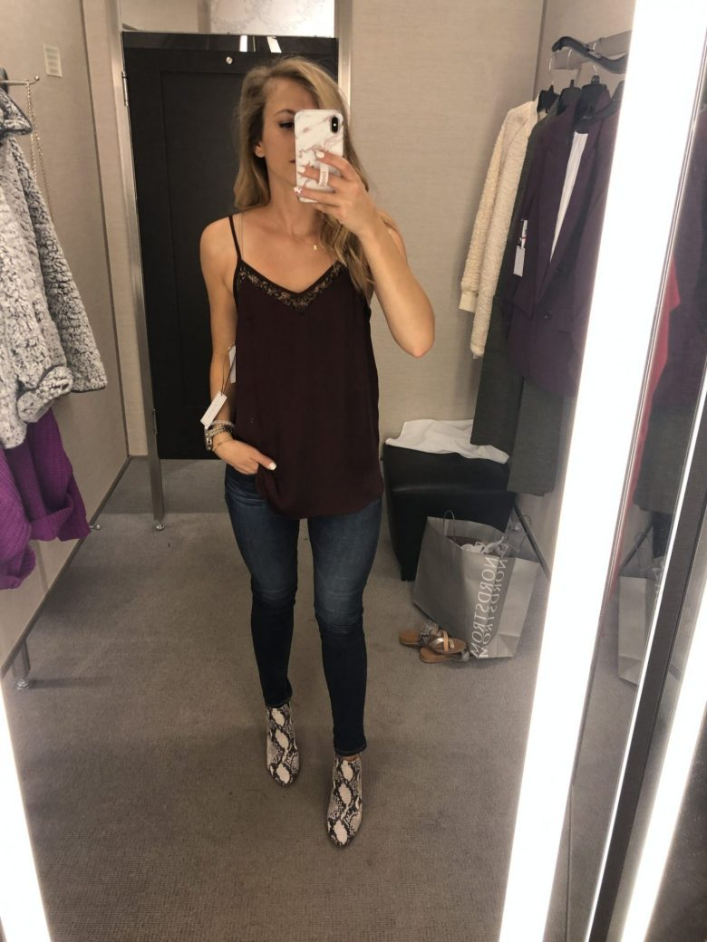 Basics to buy from the Nordstrom Anniversary Sale, featured by top US fashion blog, Running in Heels: image of a woman wearing a Cami