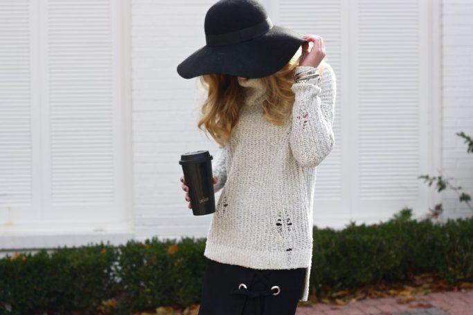 Running in Heels | Turtleneck Sweater | Winter Fashion