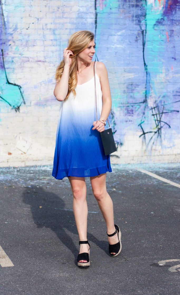 blue ombre dress