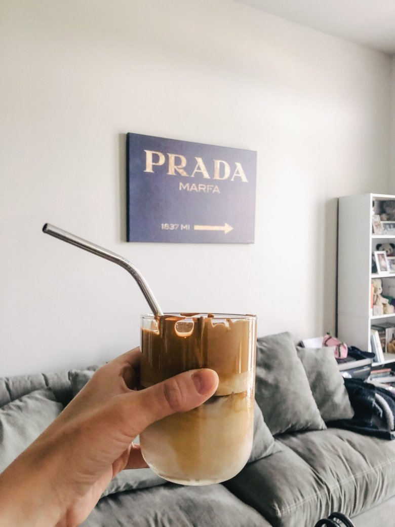TikTok's Whipped Coffee Recipe featured by top Dallas lifestyle blog, Running in Heels
