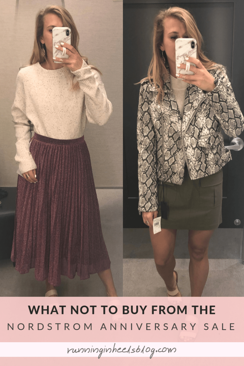 What NOT to Buy from the 2019 Nordstrom Anniversary Sale featured by top US fashion blog, Running in Heels: maxi skirt and snakeskin moto jacket