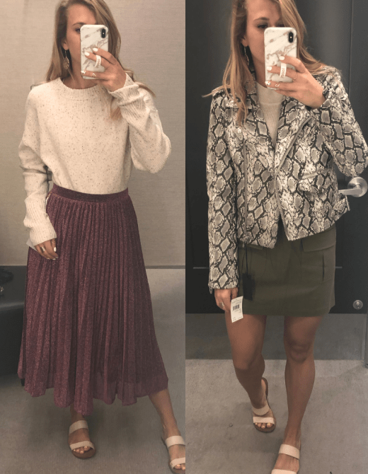 What NOT to Buy from the 2019 Nordstrom Anniversary Sale featured by top US fashion blog, Running in Heels: midi skirt, snakeskin moto jacket