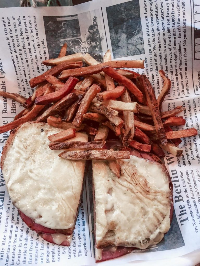 Where to eat in NYC, Blue Dog Cafe croqe monsier with fries