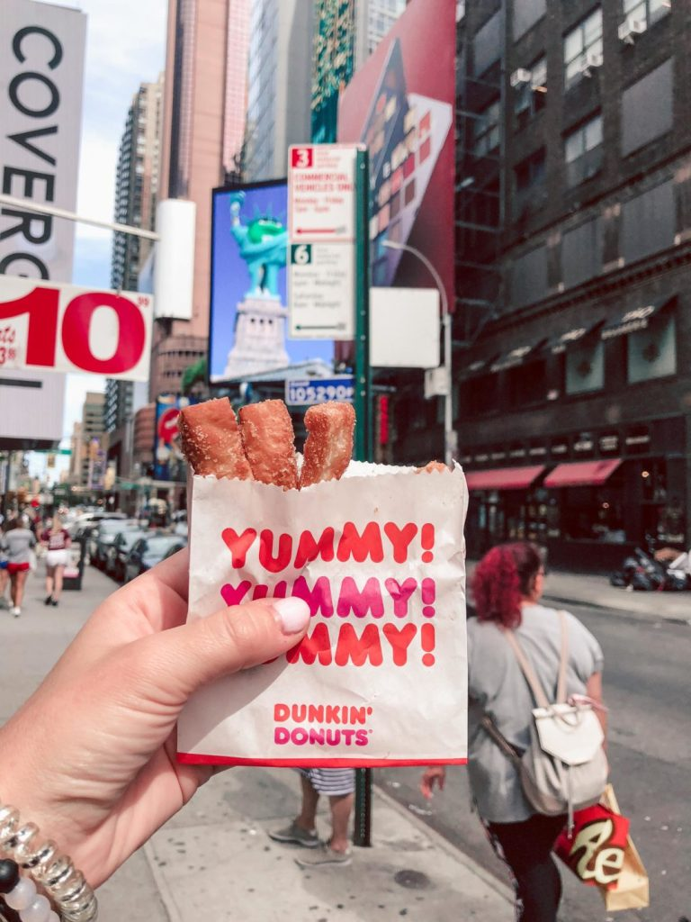 Where to eat in NYC, dunkin' donuts donut fries