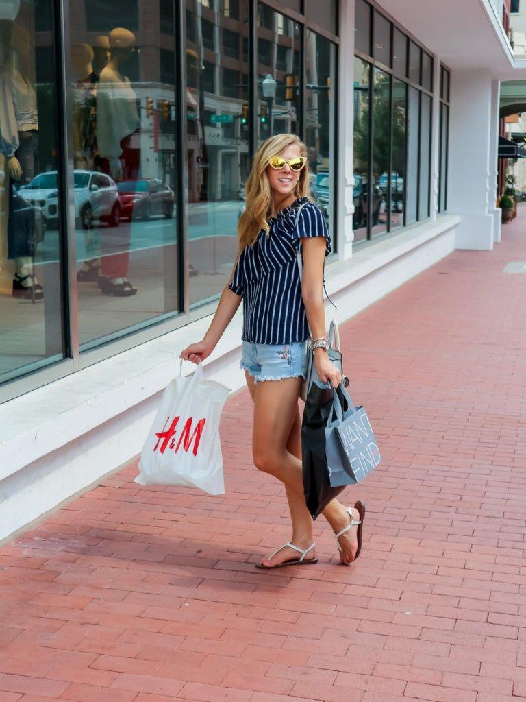 Shopping in Sundance Square   Running in Heels