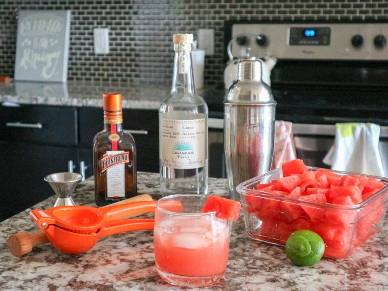 Easy Watermelon Margarita recipe featured by top US lifestyle blog, Running in Heels
