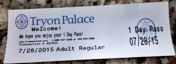 Tryon Palace ticket