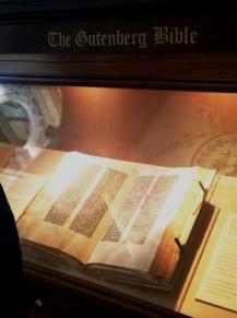 Gutenberg Bible Display