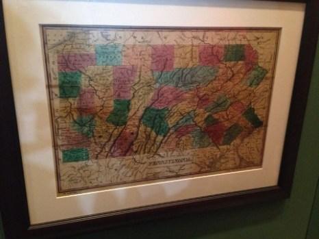 Early Rail Map of PA
