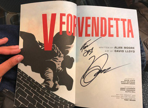 V for Vendetta signed at Raleigh Supercon 2017