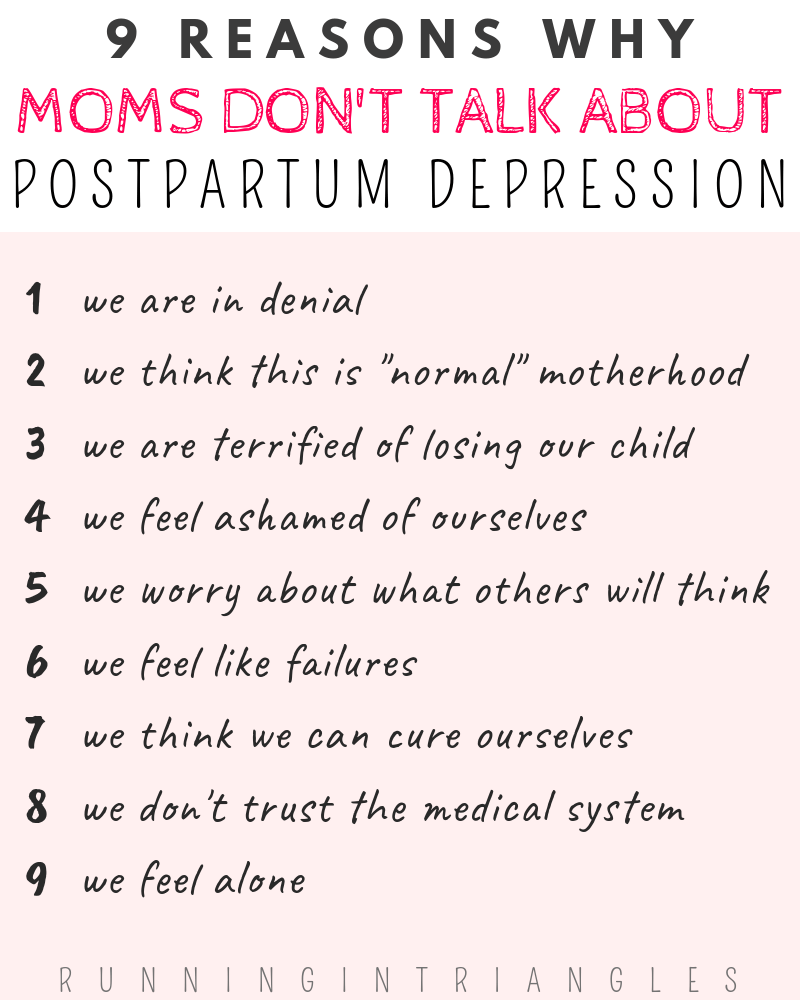 9 Reasons Why Moms Don't Talk About Postpartum Depression