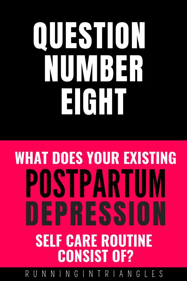 Self Care for Postpartum Depresion