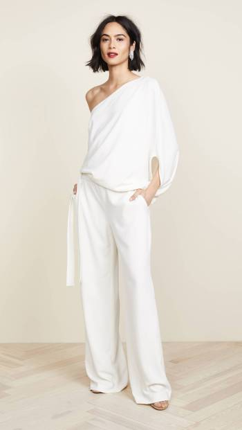 Asymmetrical Wide Leg Jumpsuit - Who What Wear