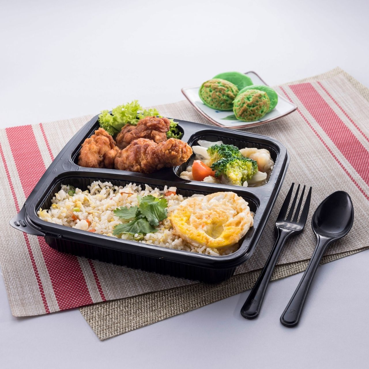 runningmen catering bento box yong chow fried rice with fried chicken