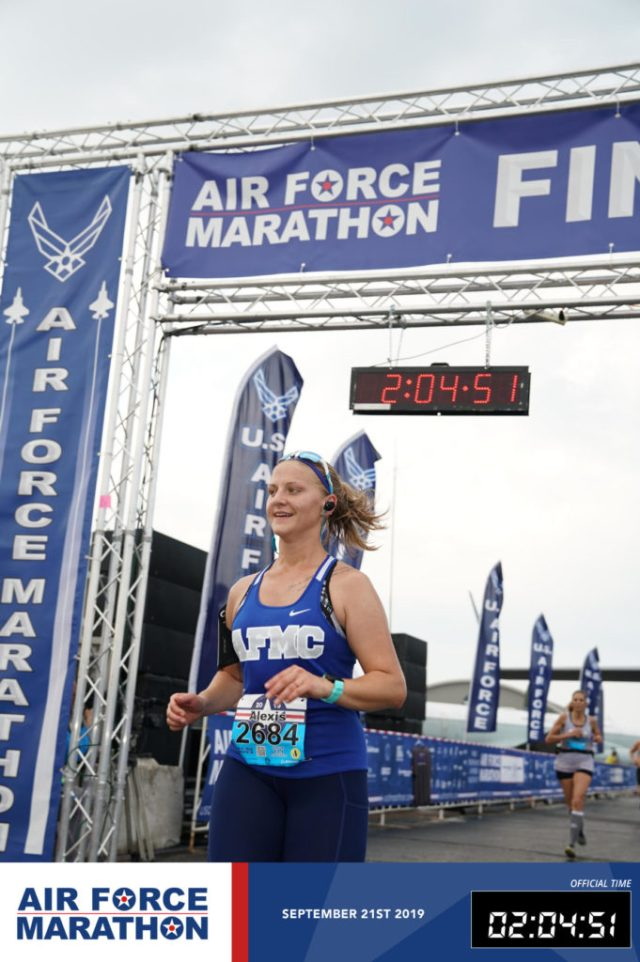Air Force Marathon Finish Line