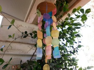 colorful windchime