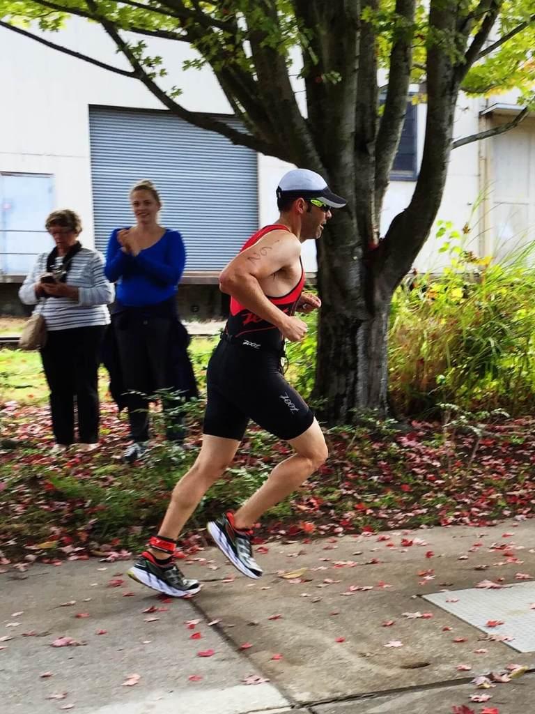 Triathlon - Headed out on the run