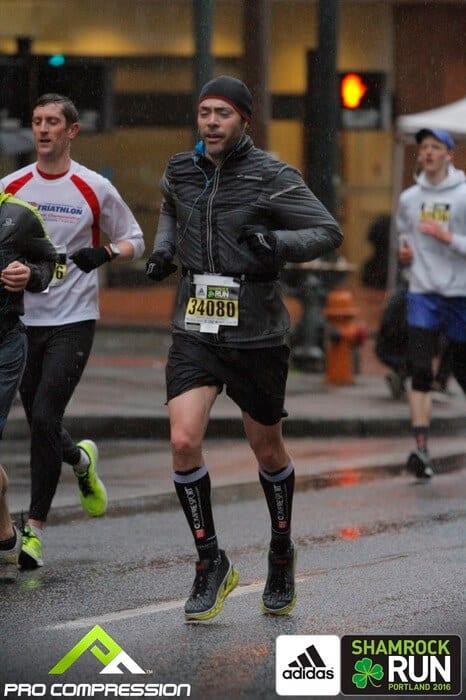 Hoka Vanquish - In run at the Portland Shamrock