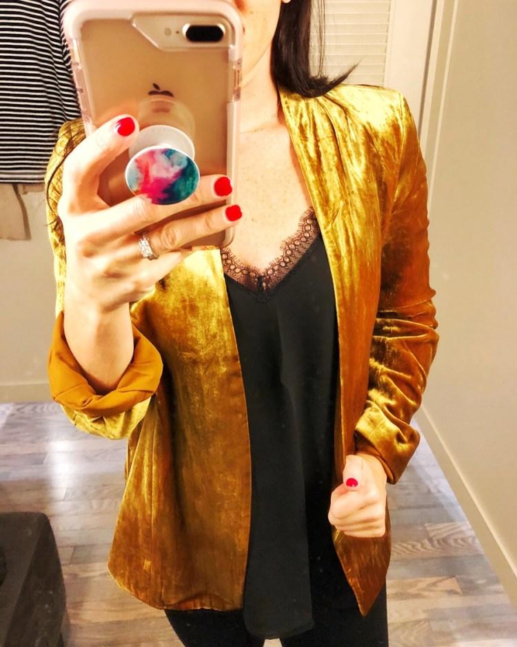 LOFT gold blazer