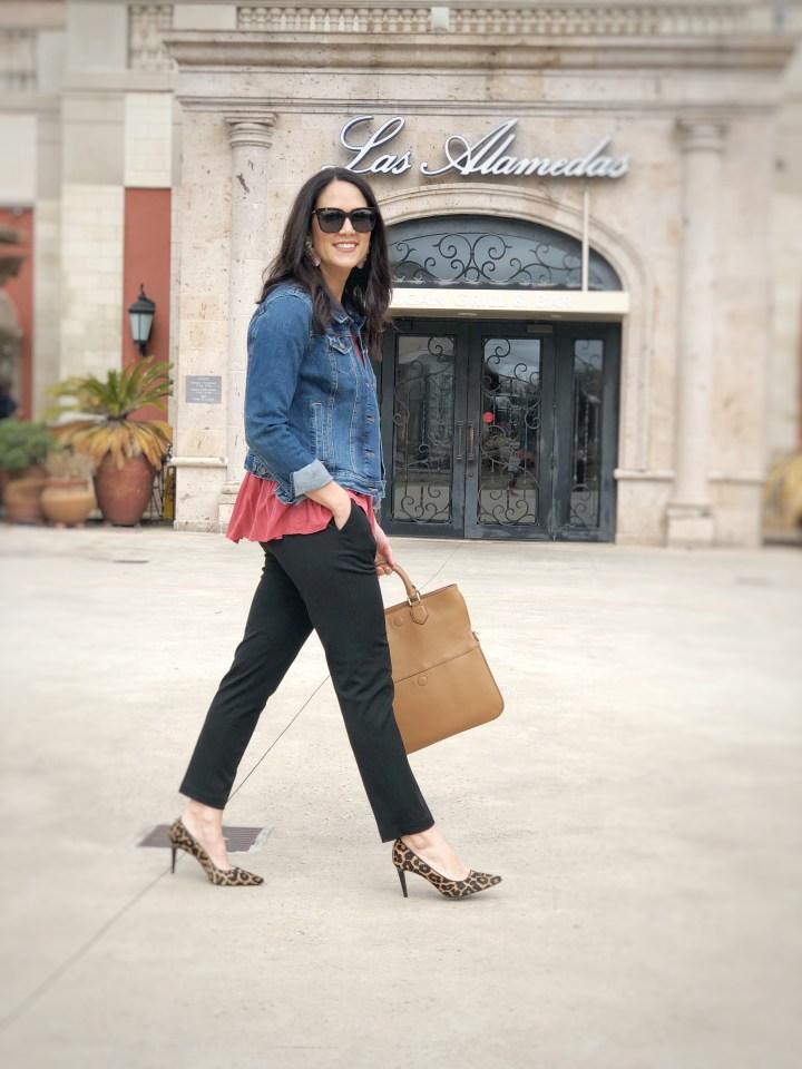 Work Wear Wednesday |  stovepipe pants + peplum top