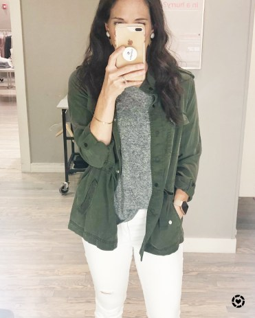 olive green jacket-loft