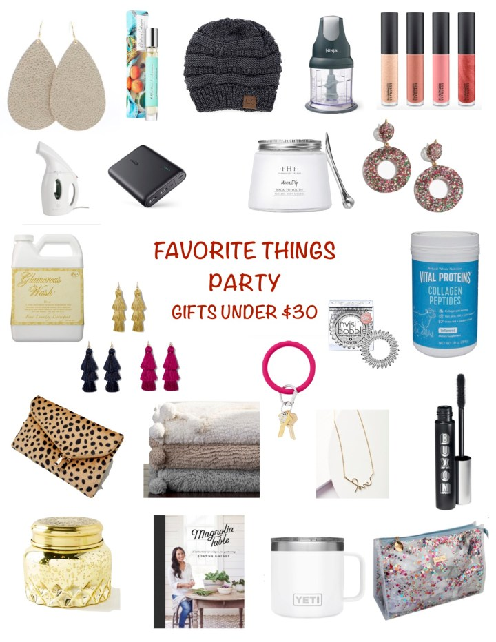 FAVORITE THINGS PARTY: GIFTS UNDER $30